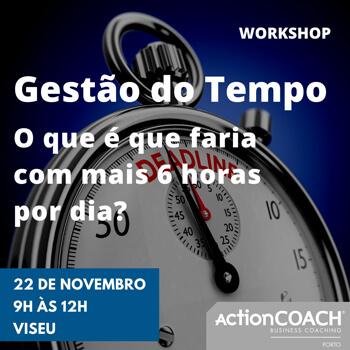 Workshop | Gestão do Tempo