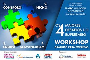 """Workshop """"Os 4 Maiores Desafios do Empresário"""""""